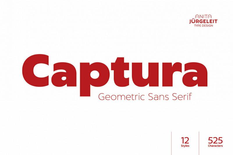Captura现代无衬线logo设计英文字体下载