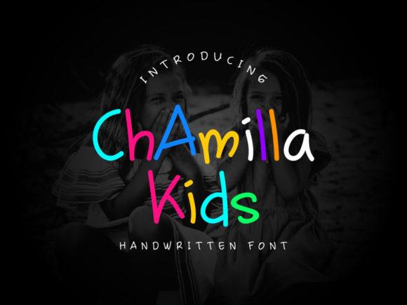chamilla kids儿童趣味手写英文字体下载