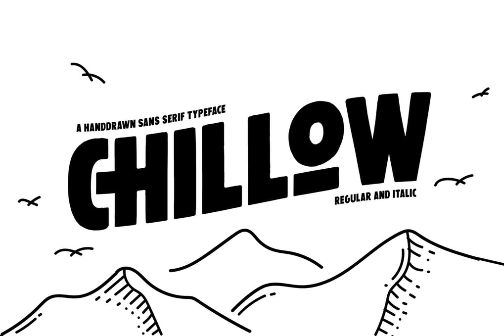 Chillow现代手写无衬线英文字体下载