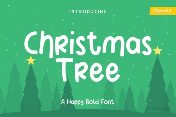Christmas Tree手写节日卡通圣诞节英文字体下载