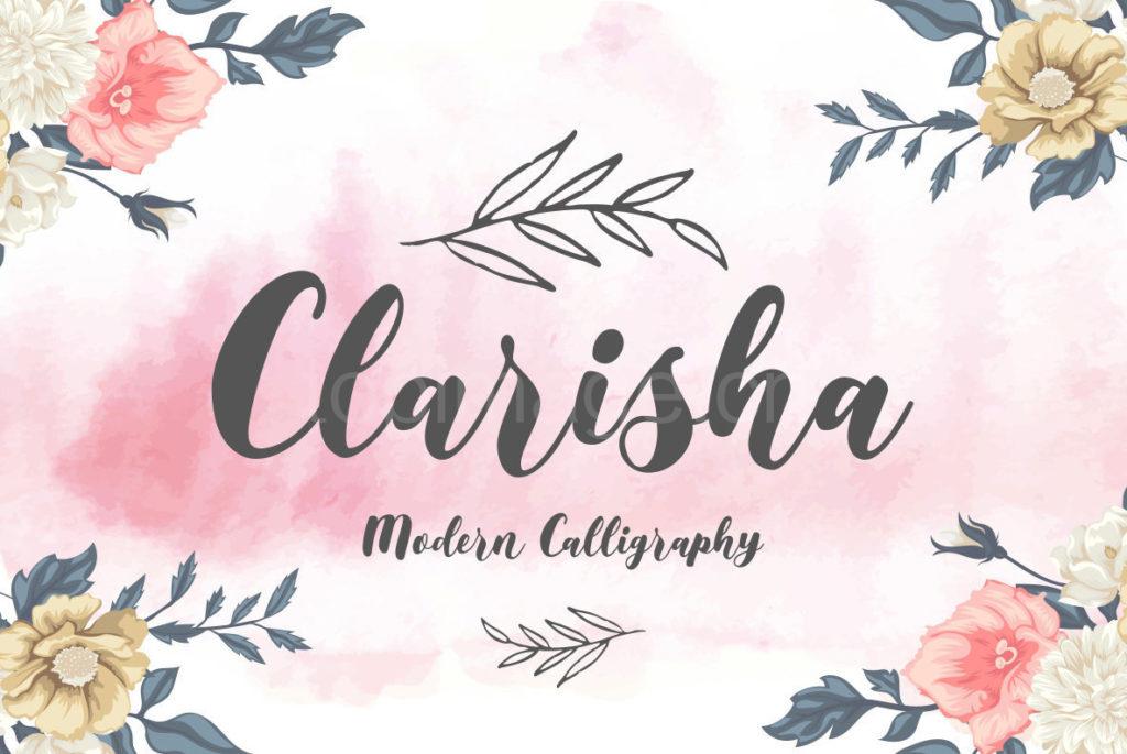 clarisha手写手绘好看的英文连笔笔刷字体下载
