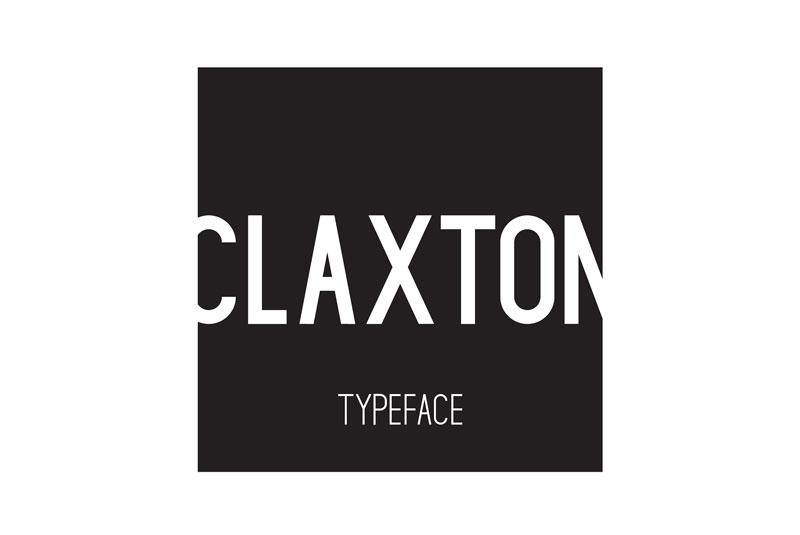 claxton现代英文字体下载