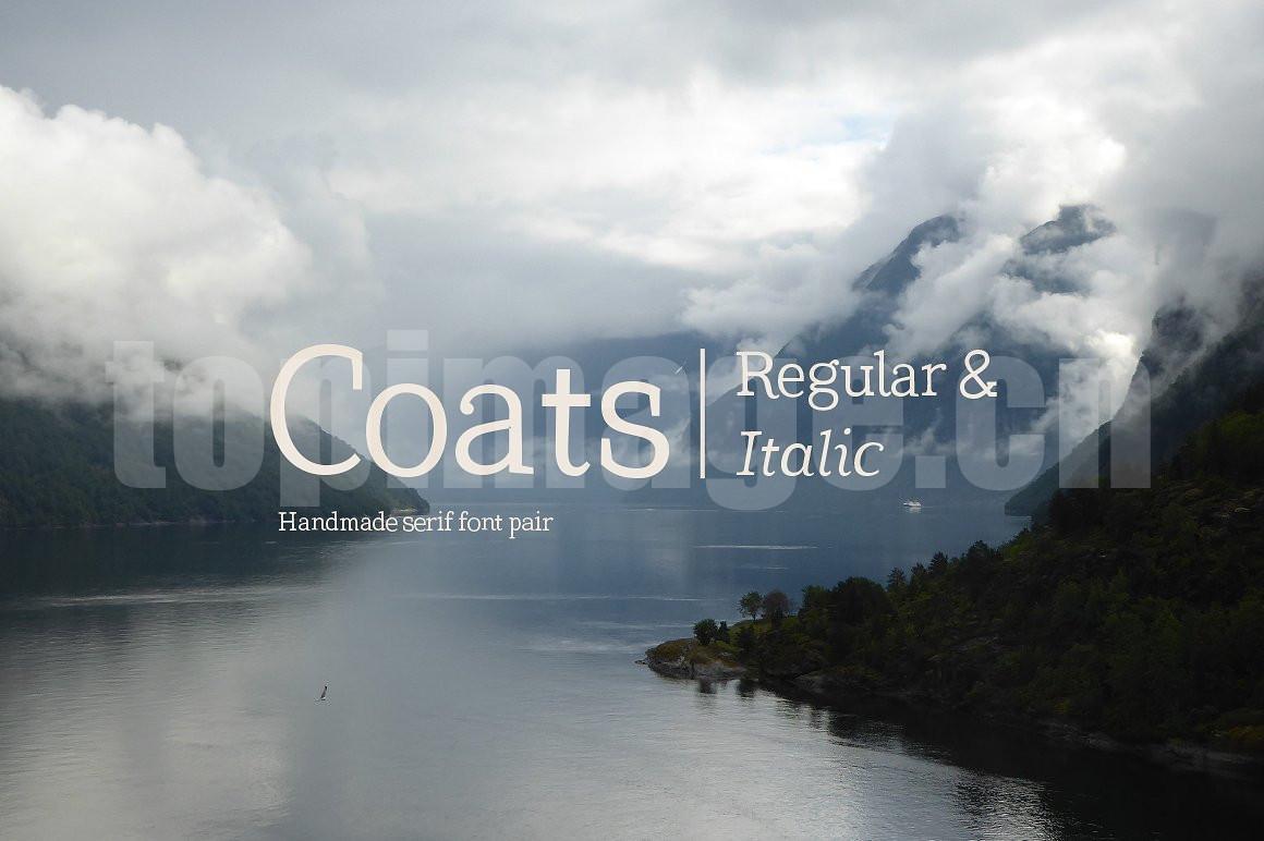 Coats-Regular时尚简约海报现代好看的英文字体下载