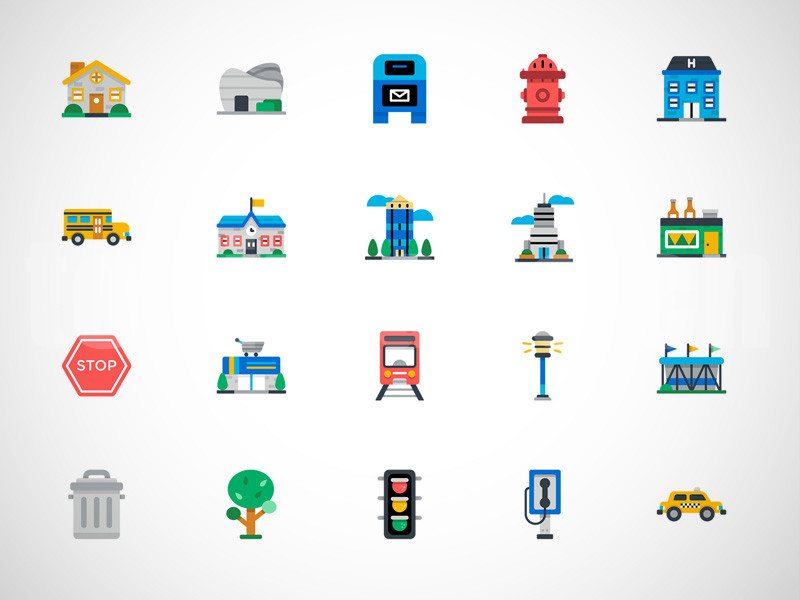 交通工具矢量源文件城市建筑学校铁路sketch矢量图标icon下载