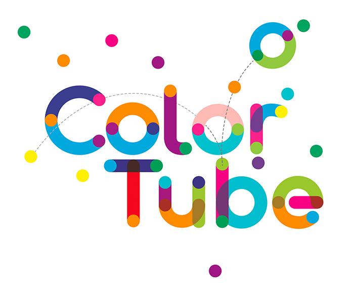 colortube英文字体svg多彩颜色字体下载