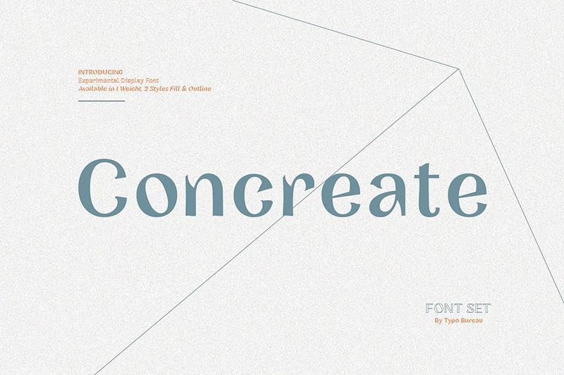 concreate简约设计英文logo字体下载