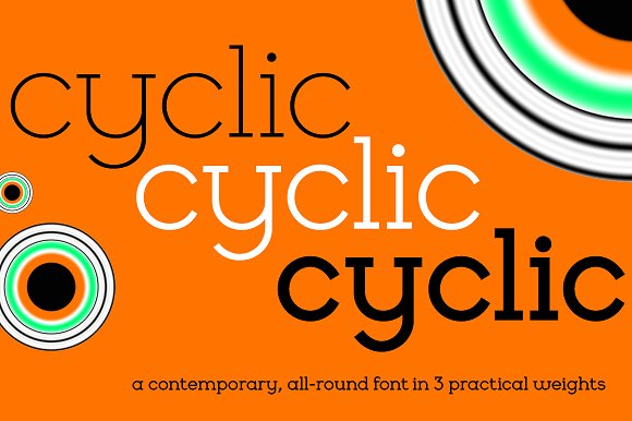 cyclic现代简约logo好看的英文字体下载