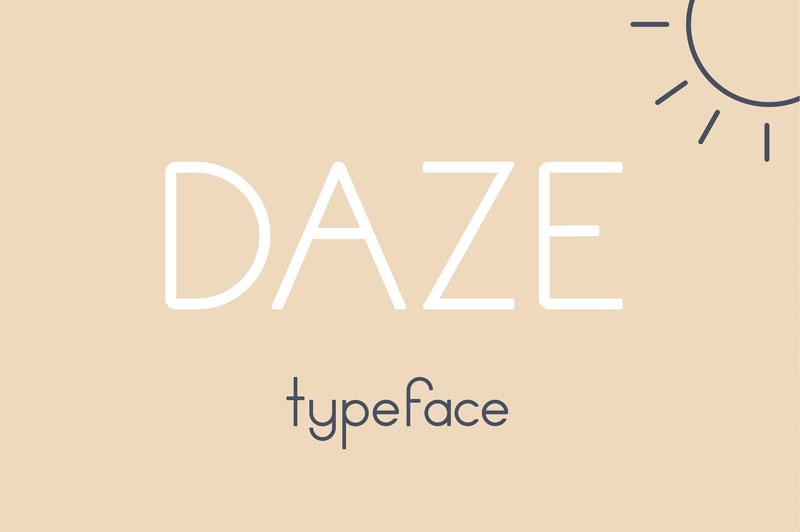 daze现代无衬线名片英文字体下载