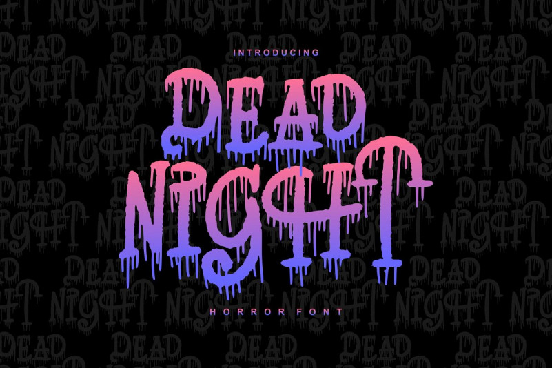 Dead Night 液体喷溅手写流体英文字体下载
