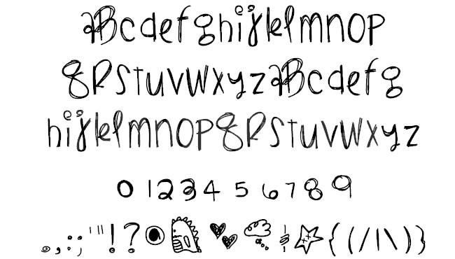 BlackLightning笔刷手写潦草艺术个性书法英文字体下载
