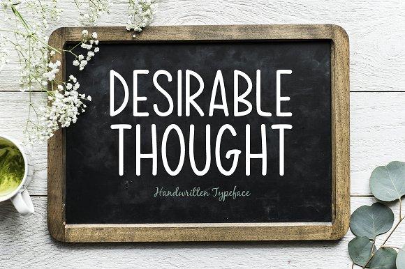 desirable thought手写卡通英文字体下载