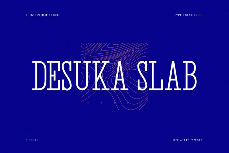 desuka slab 现代等宽无衬线英文字体下载