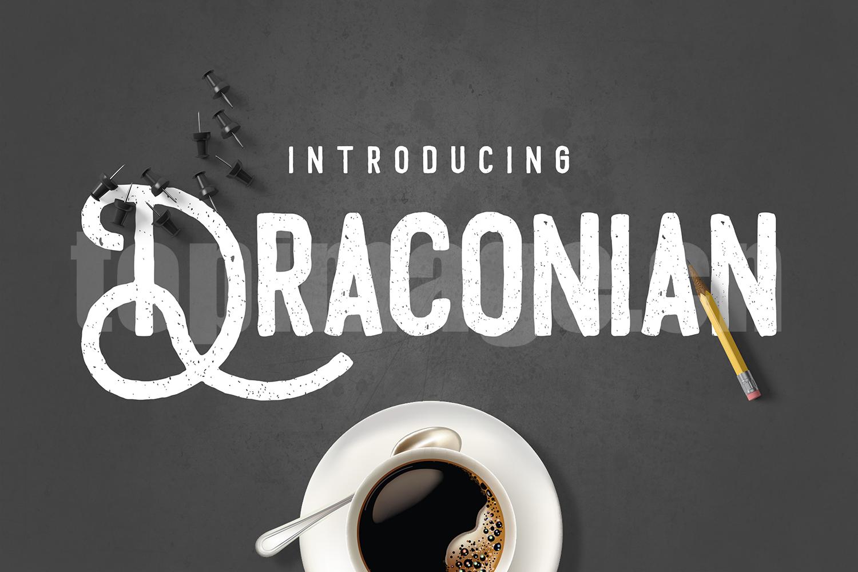 draconian手绘铅笔风格素材英文字体下载