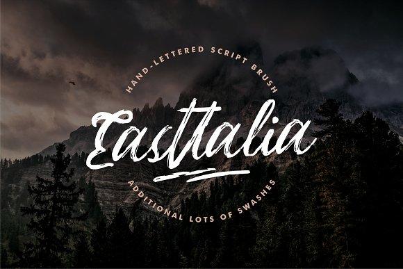 easttalia script书法笔触个性英文字体下载