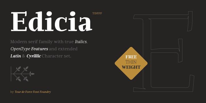 Edicia衬线排版字体设计英文字体下载