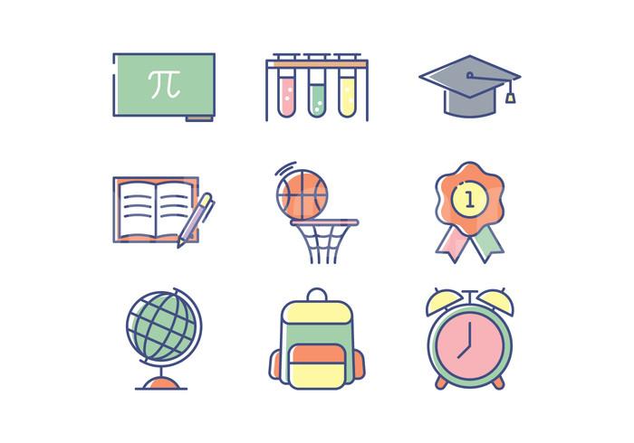 教育相关 学位帽 化学仪器 篮球框 书包 地球仪 小红花icon图标源文件下载