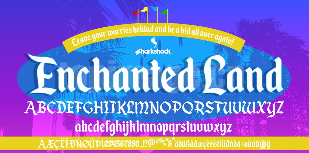 enchanted-land哥特式艺术好看的英文字体下载