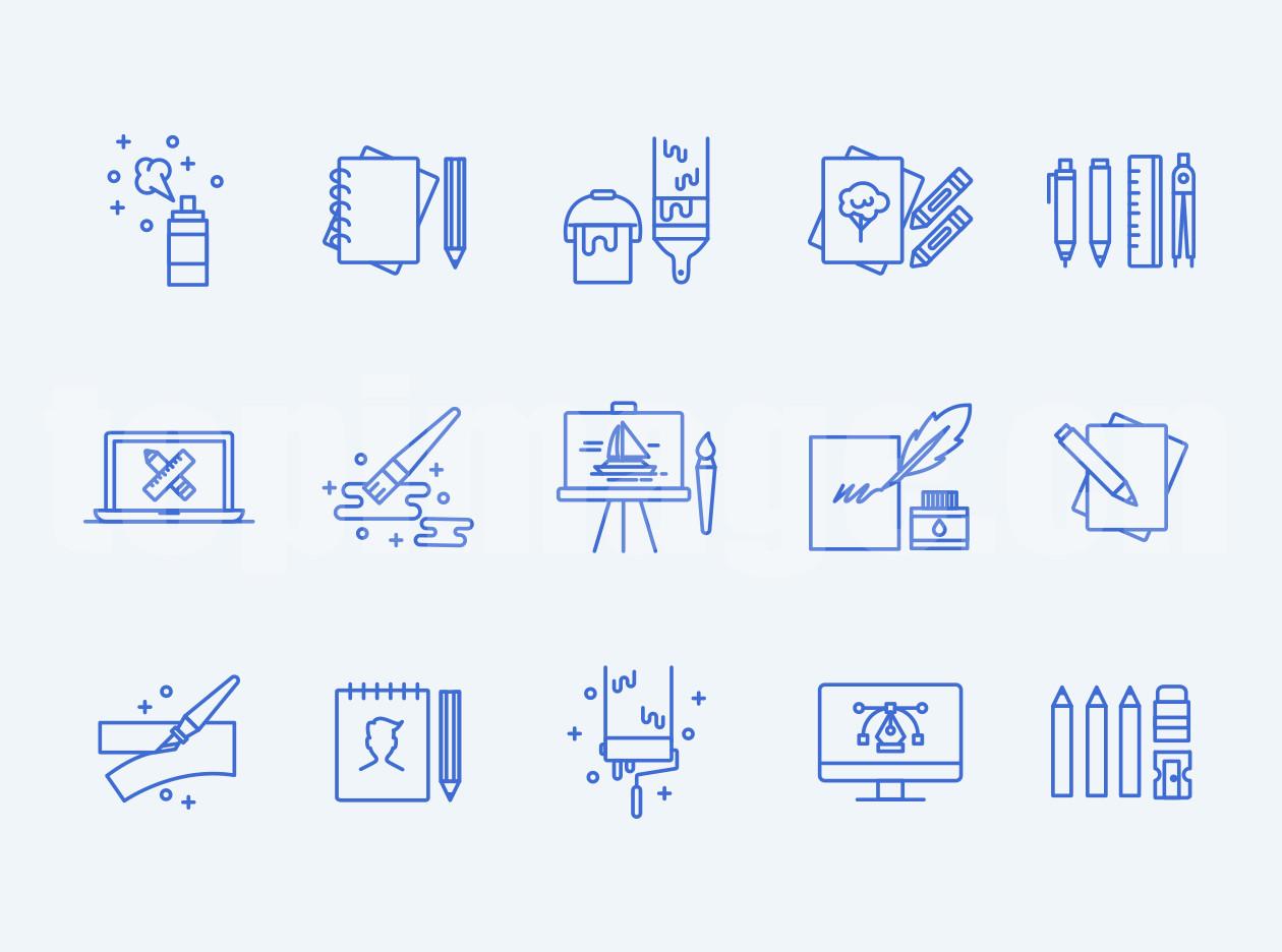 设计师相关  工作室 绘画  矢量文件 图标 下载