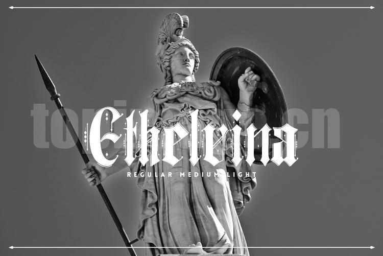 Ethelvina哥特式海报logo好看的英文字体下载