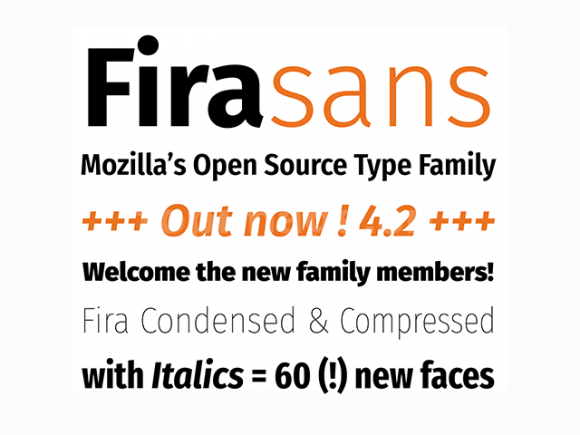 fira经典无衬线现代英文字体下载