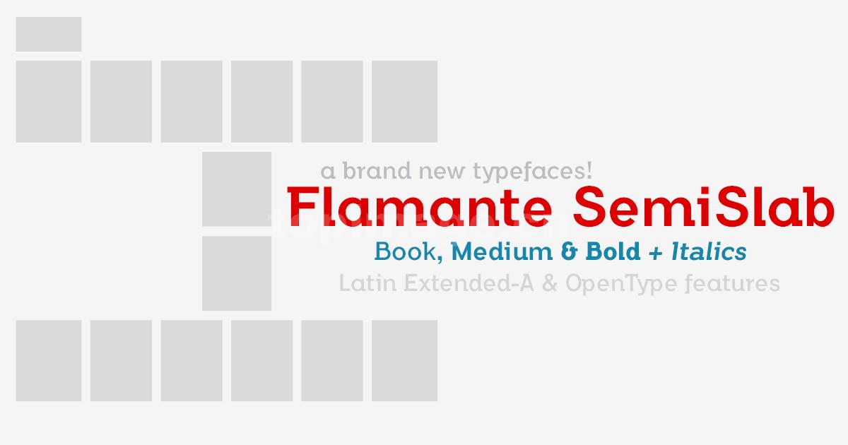 flamante衬线英文字体适合印刷排版
