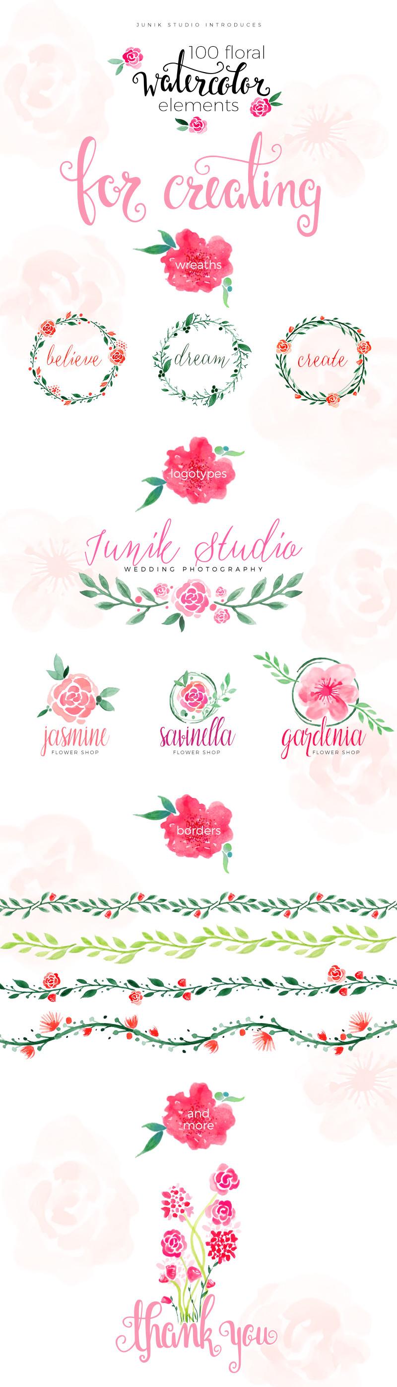 唯美花卉 树叶 欧式花纹 手绘叶子笔刷源文件下载