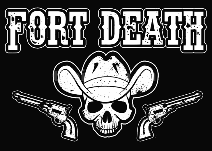 fort-death复古游戏手绘好看的艺术英文字体下载