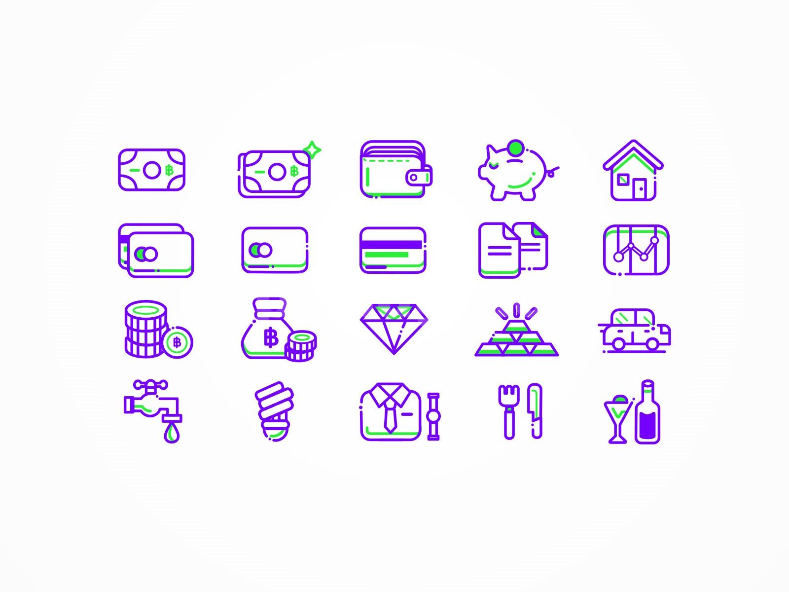 金融财富钞票储物罐银行卡商务icon图标源文件下载