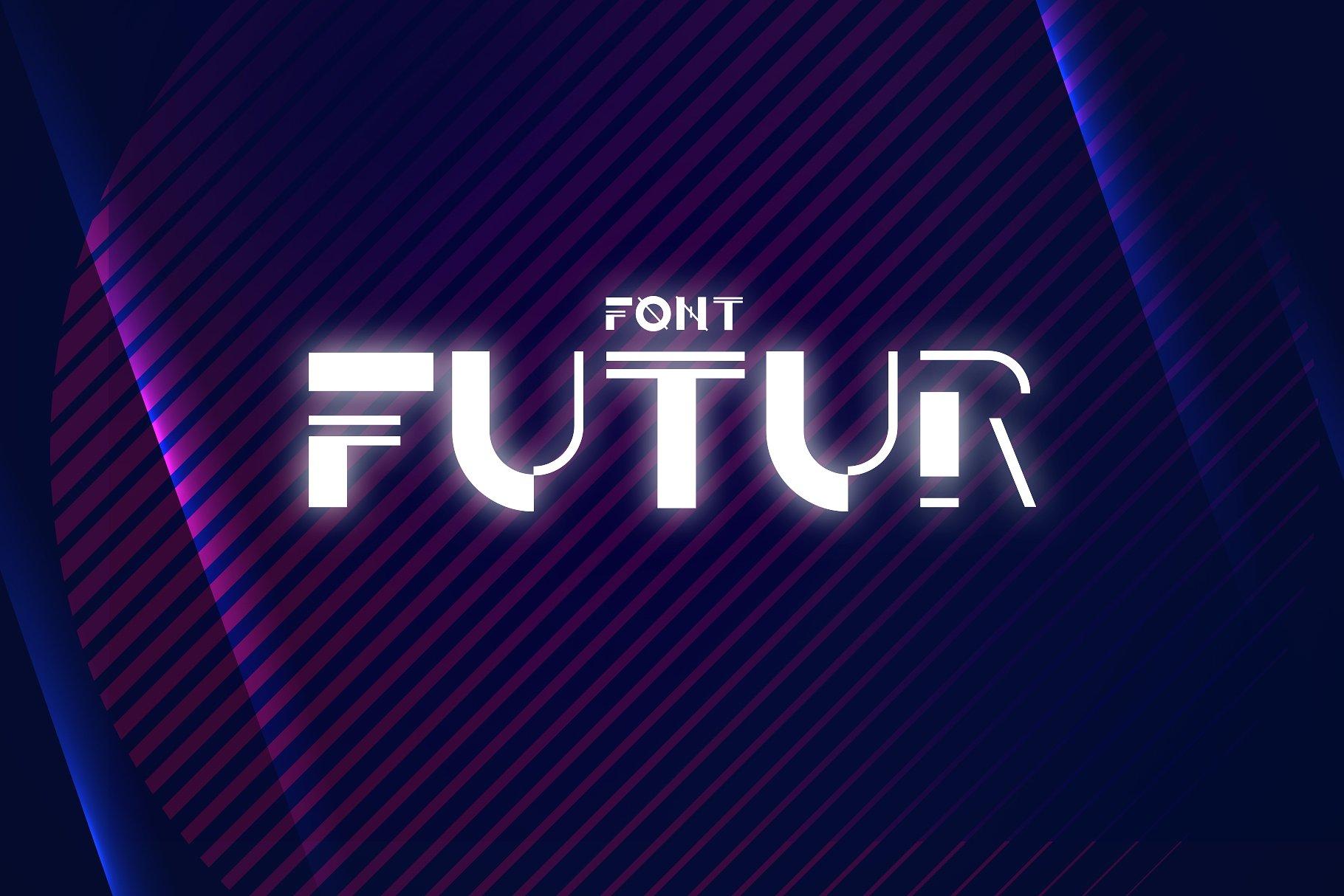 futur个性现代无衬线logo英文字体下载