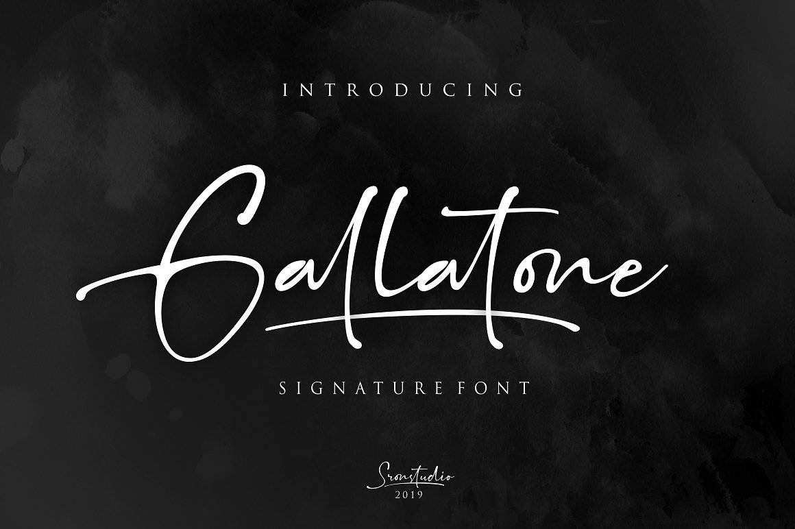 gallatone手写连笔钢笔签名英文字体下载