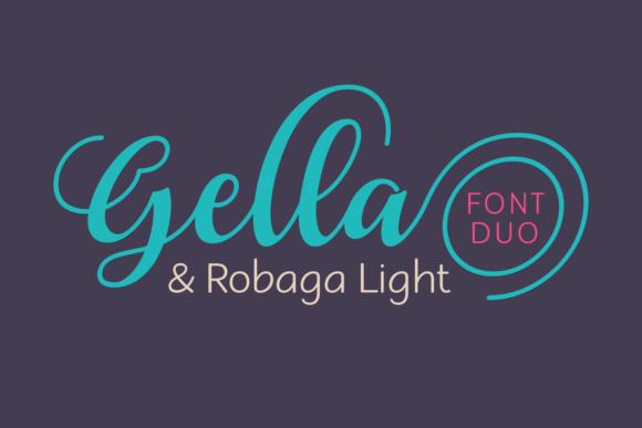 gella robaga花式手写logo及纤细英文字体下载