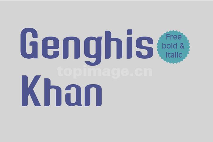 genghis-khan简洁英文粗犷英文字体下载