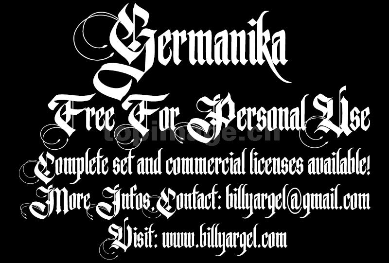 germanika哥特式连笔个性英文字体下载