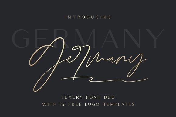germany duo钢笔个性签名手写英文字体下载