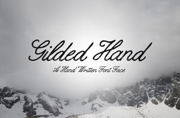 gilded hand手写手绘连笔海报英文艺术字体下载