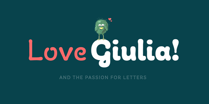 giulia family可爱趣味卡通英文字体下载