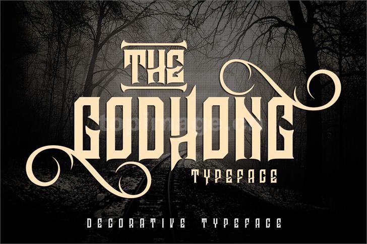 godhong哥特式个性海报英文字体下载