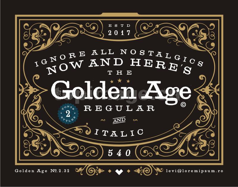 golden_age复古罗马个性艺术英文字体