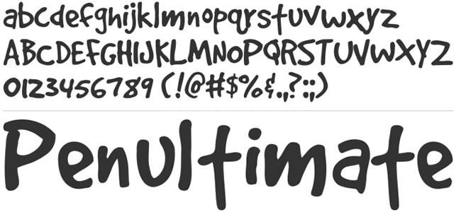 GoodDog手写手绘书法好看的英文字体下载