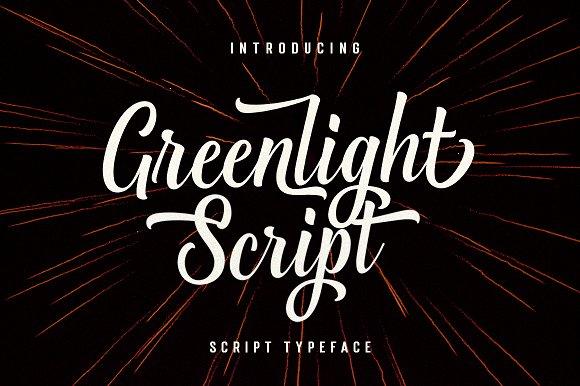 greenlight好看的手写圆润logo英文字体下载