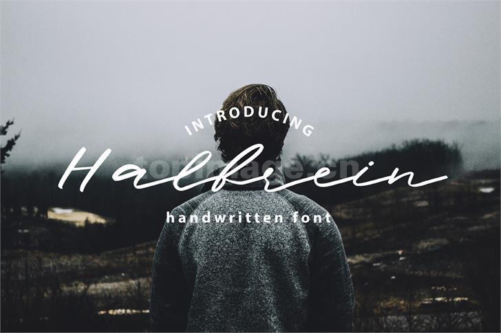 halbrein手写书法连笔英文手绘艺术字体下载