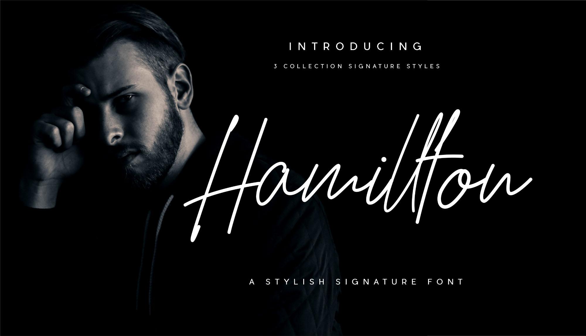 hamillton手写连笔签名英文字体下载