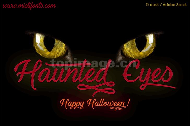 haunted-eyes手写书法英文手绘艺术英文字体下载