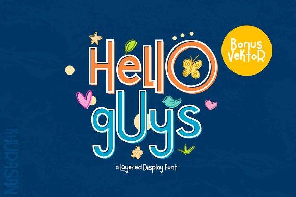 hello guys趣味创意logo英文字体下载