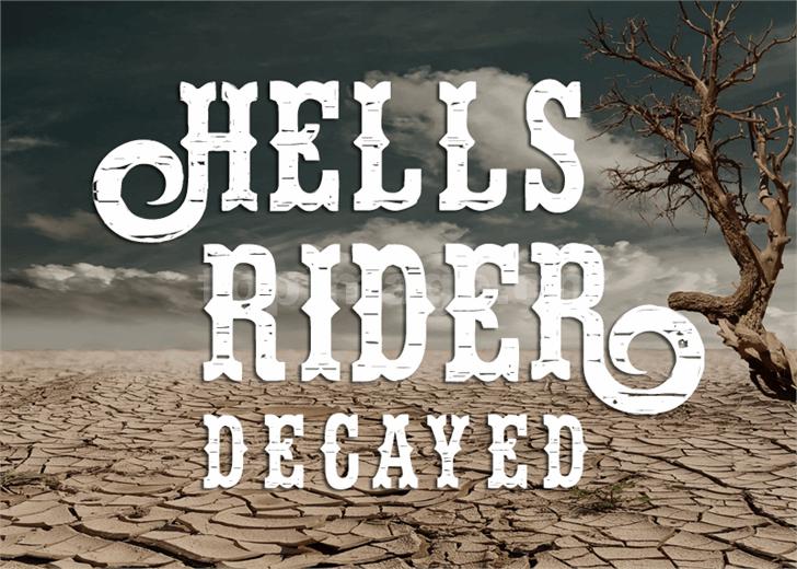 hells-rider-decay复古罗马个性卡通艺术英文字体下载