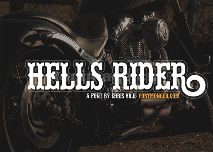 hells-rider复古罗马个性卡通艺术海报英文字体下载