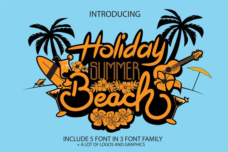 holiday summer beach 手写假期英文字体下载