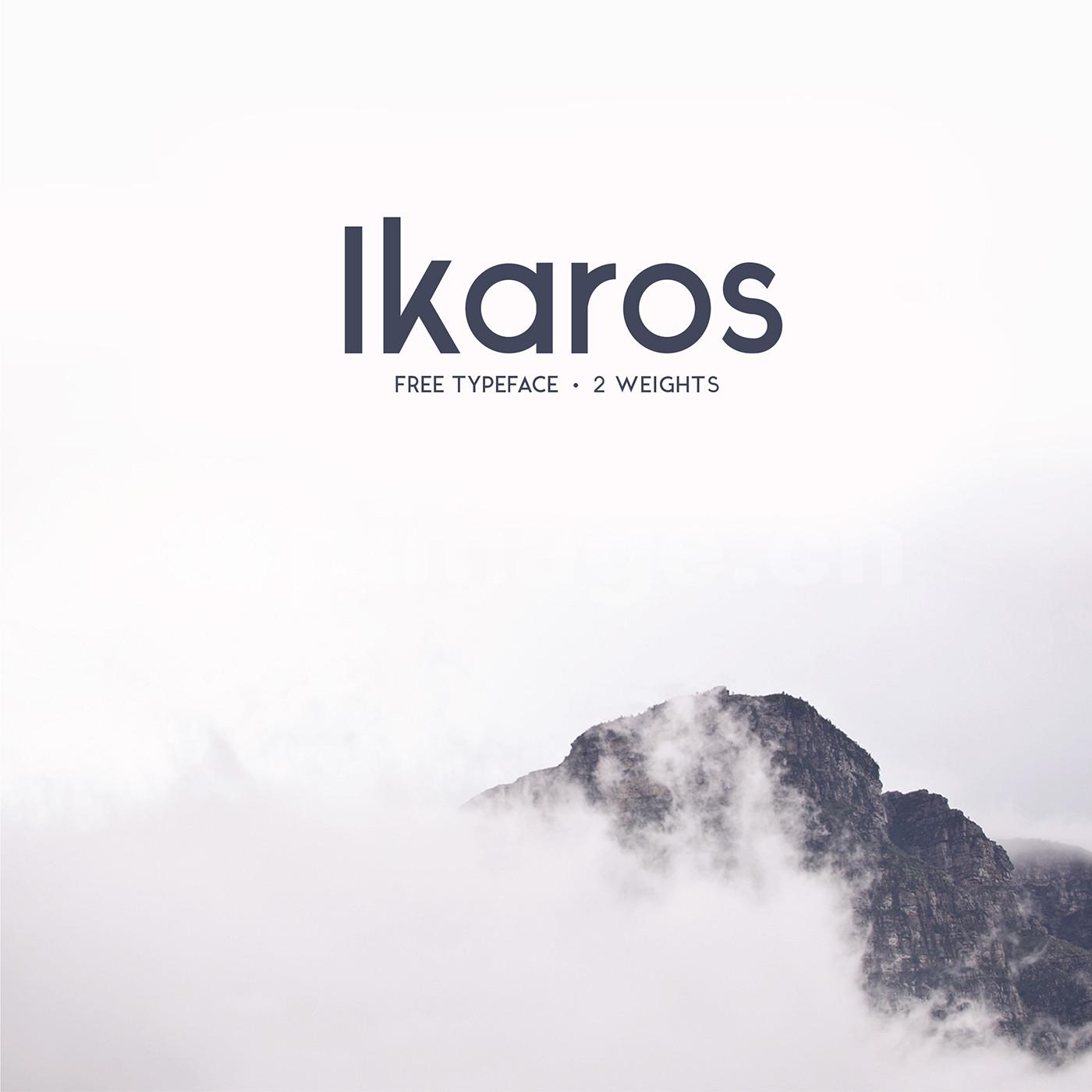 Ikaros现代海报简洁英文字体下载