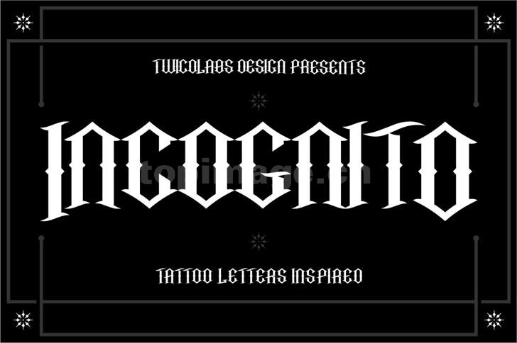 Incognito哥特式个性好看的海报英文字体下载