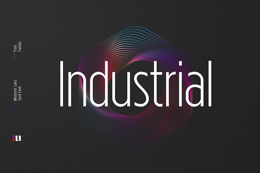 industrial商务海报时尚主题简约英文字体下载